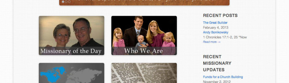 World Wide New Testament Baptist Missions Website