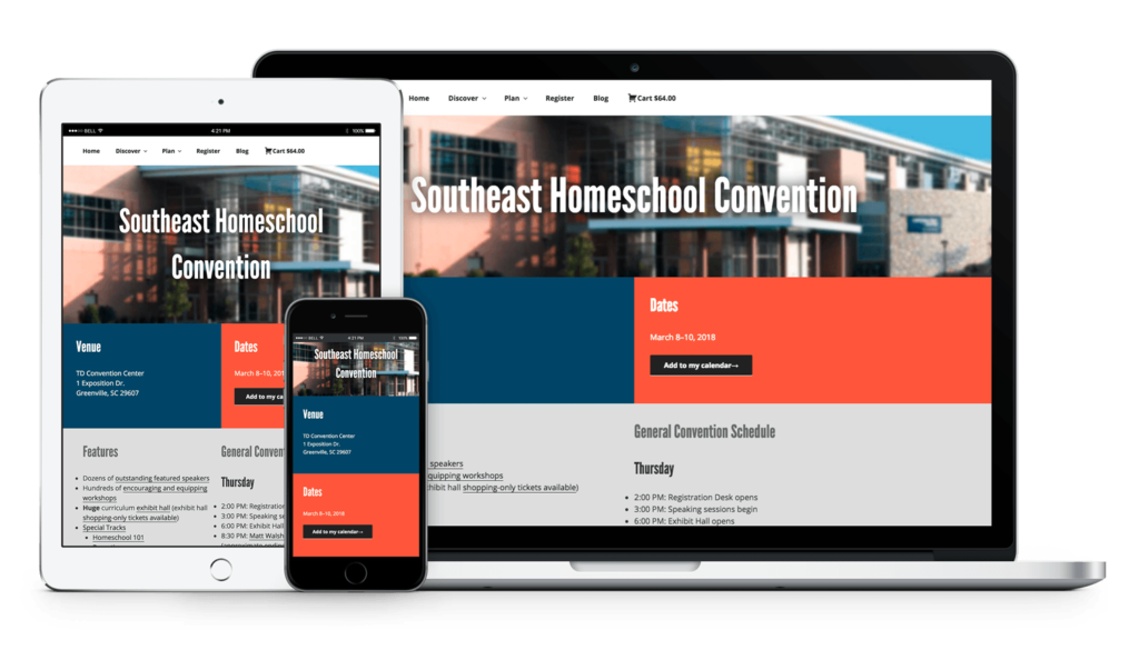 GHC site responsive mockup