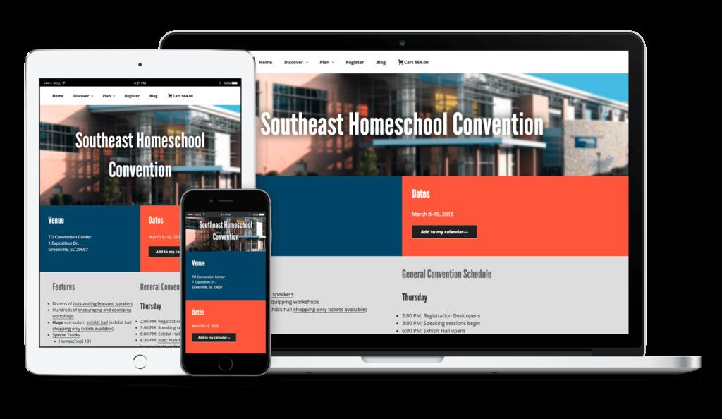 GHC site responsive mockup
