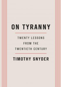 Cover of On Tyranny: Twenty Lessons from the Twentieth Century